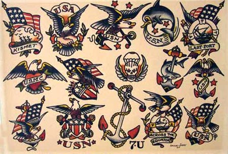 sailor jerry shark drawing  Traditional American tattoos - Old