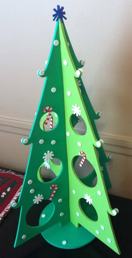 Christmas tree crafted by Jenna Edwards for Candycane's guest appearance on her show.