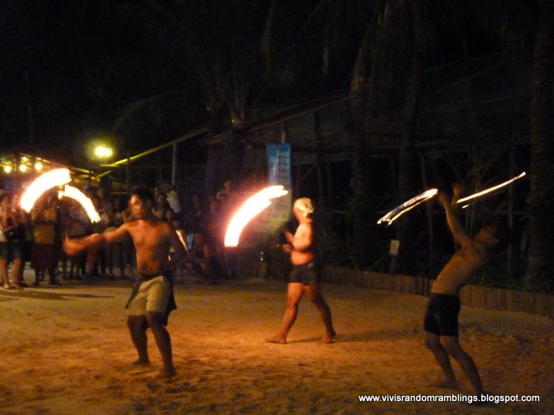fire dance at Boracay