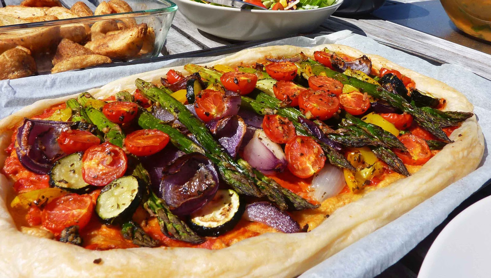 Roasted vegetable tart | including cake