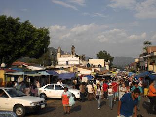 Foto Markt in Mexicos Städtchen Tepoztlan