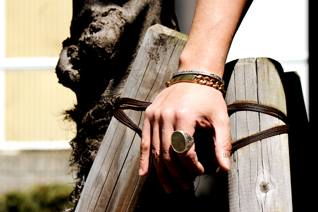 LHN Jewelry 15ss bangle silver brass accessary ring greenangle harajuku