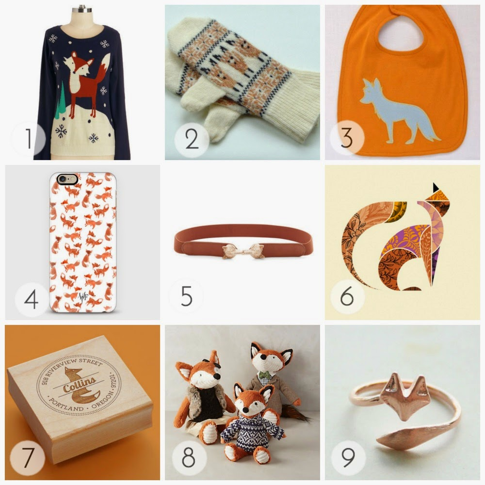 A collection of fox holiday gift inspiration