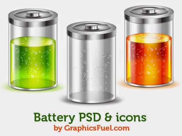 Battery Icons PSD