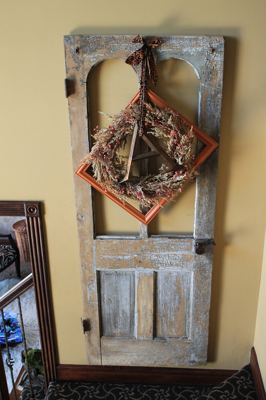 how to decorate an old door for fall the magic brush inc