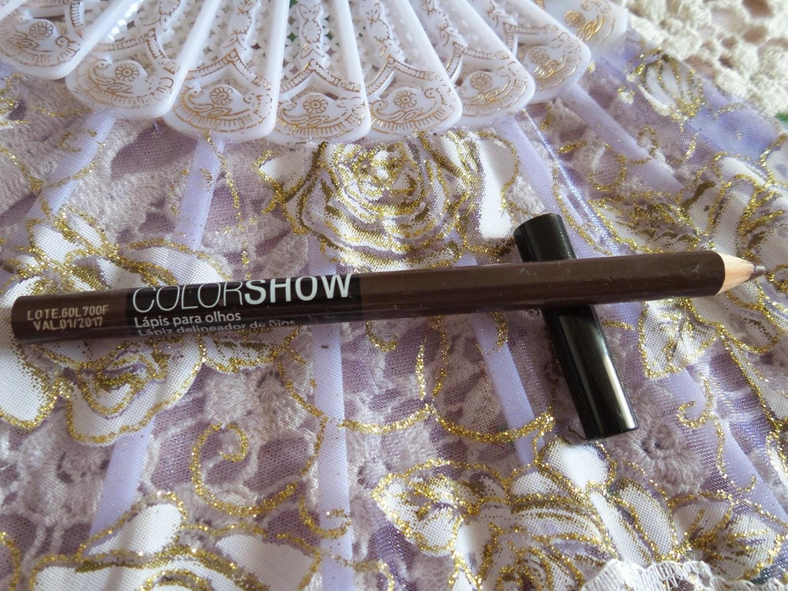 lápis delineador  olhos, de longa duração  color show Maybelline