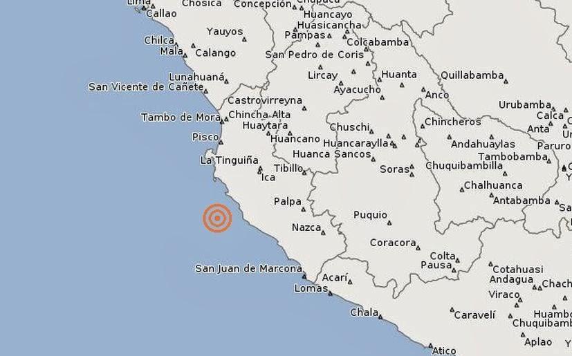 Sismo de 5,7 grados sacude Perú, 18 de Febrero 2014