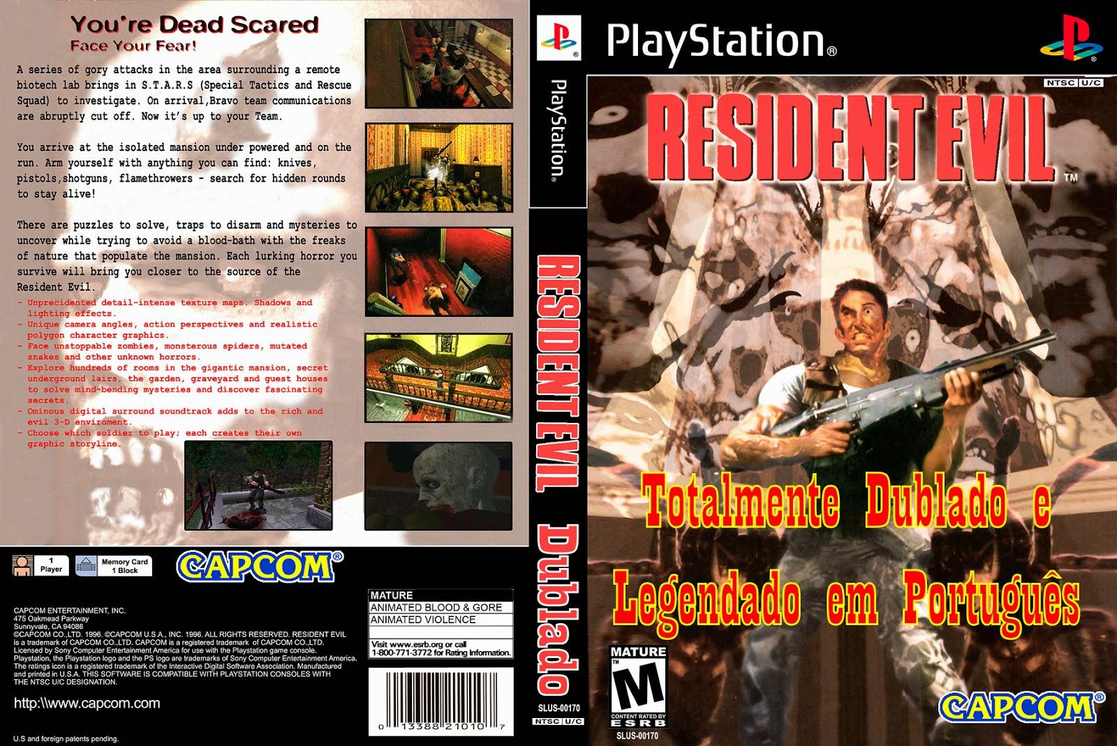 Resident Evil PS1 DVD Capa