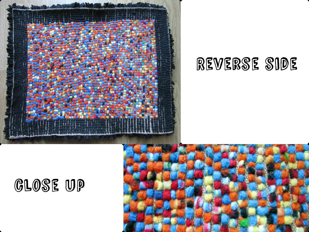 Reverse of rag rug