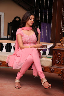 Actress Kajal Agarwal Latest Pictures in Pink Long Dress in Sarocharu Movie  0015