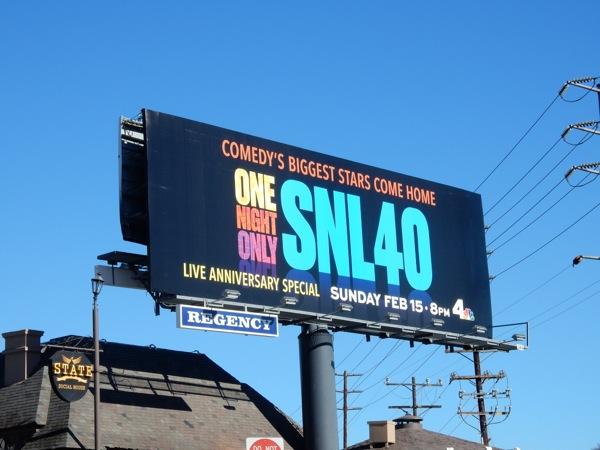 SNL 40 Live anniversary special billboard