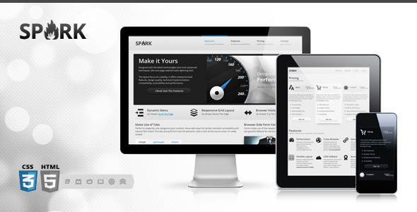 ThemeForest - Spark - Responsive One-Page HTML5 WordPress Theme