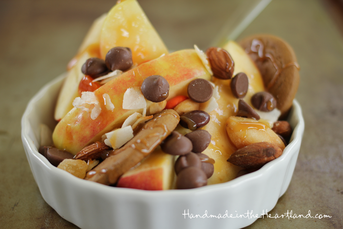 Caramel Apple Sundae Bar | Handmade in the Heartland