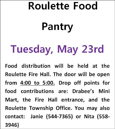 5-23 Roulette Food Pantry