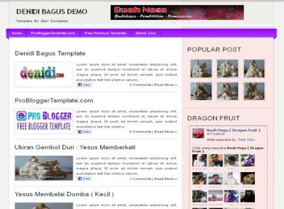 Denidi Bagus Blogger Template