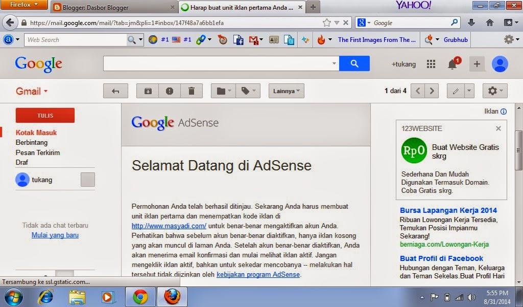 Berapa Lama Sih Review Pertama Google Adsense Non Hosted ?