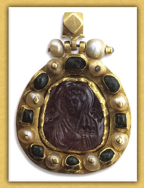 Βυζαντινό ωοειδές εγκόλπιο της Ιεράς Μονής Βατοπαιδίου Αγίου Όρους