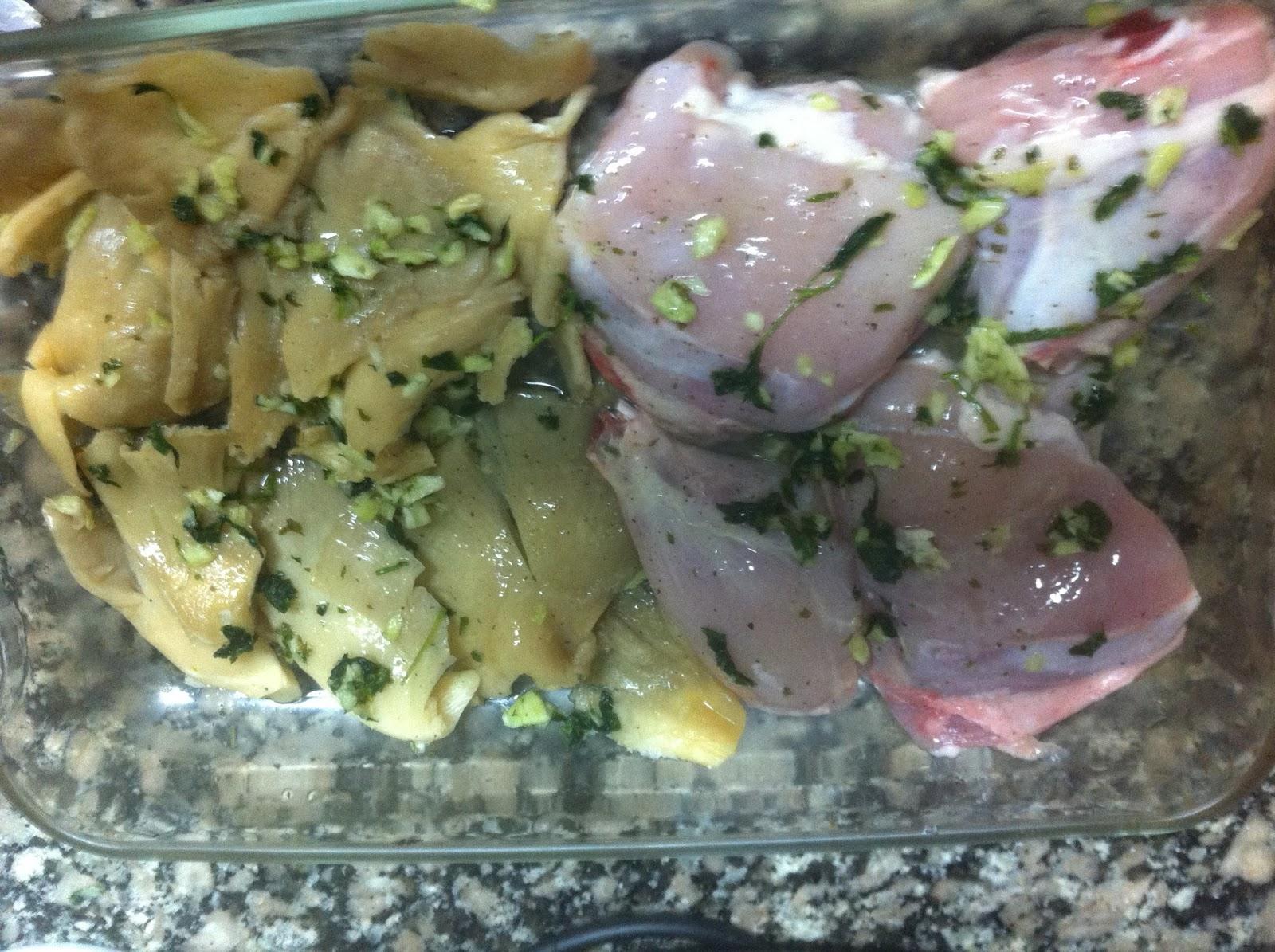 La cocina de beli cuartos traseros de pollo con setas al - Limpiar horno con limon ...