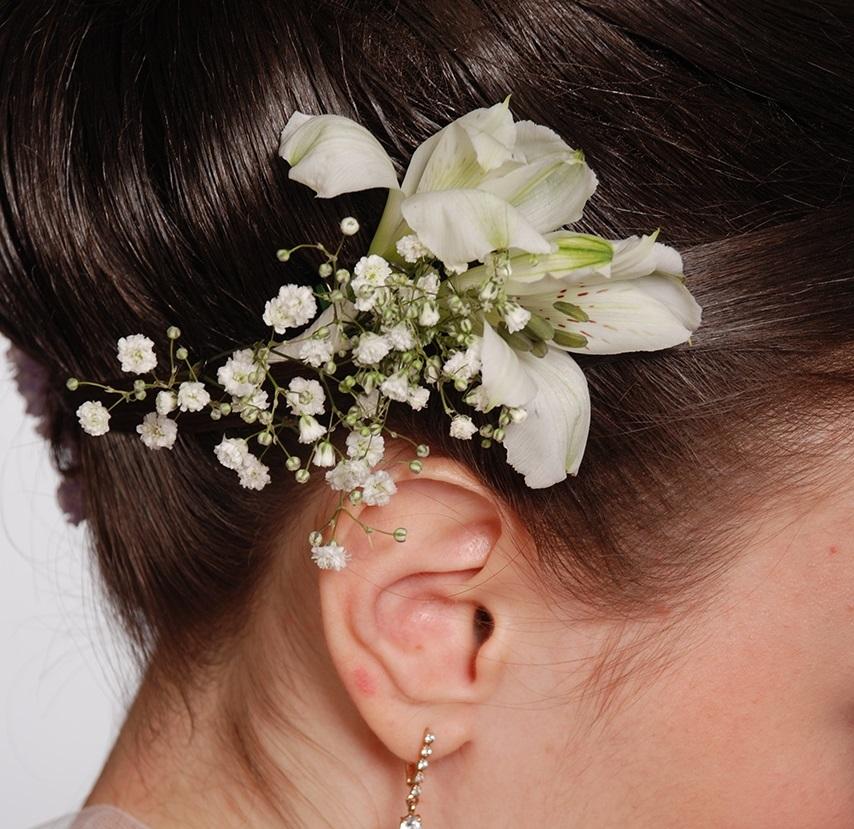 Цветы в волосы украшения из цветов своими руками