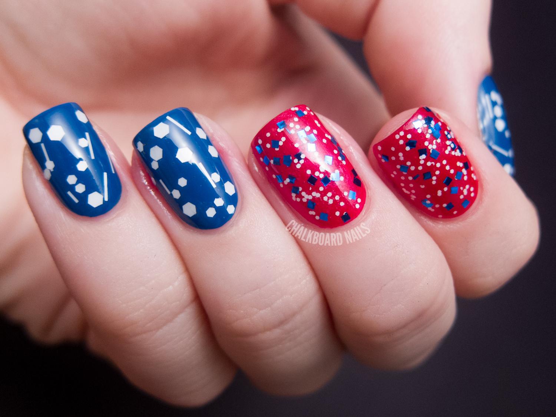 America the Glittery | Chalkboard Nails | Nail Art Blog