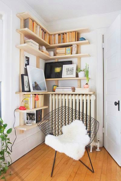 30 inspirations d co pour votre salon blog d co mydecolab for Salon avec bibliotheque