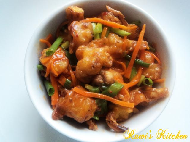 Cauliflower Manchurian ( Gobi Manchurian)
