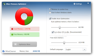Easy To Free Up Memory (RAM) on PC | Wise Memory Optimizer