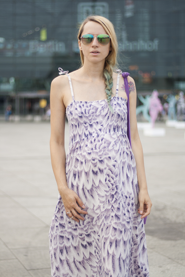 Skinny Buddha Berling purple maxi dress