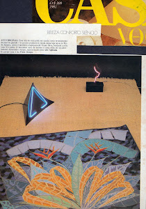 Tapeçaria bordada, na Casa Vogue, Ano 5, n. 5, 1981.