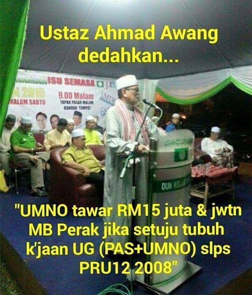 "KENAPA KERAJAAN "" PASNO "" ; UMNO -PAS ( "" D"" WANG -NTR ) GAGAL DITUBUHKAN DI PERAK & SELANGOR ??"
