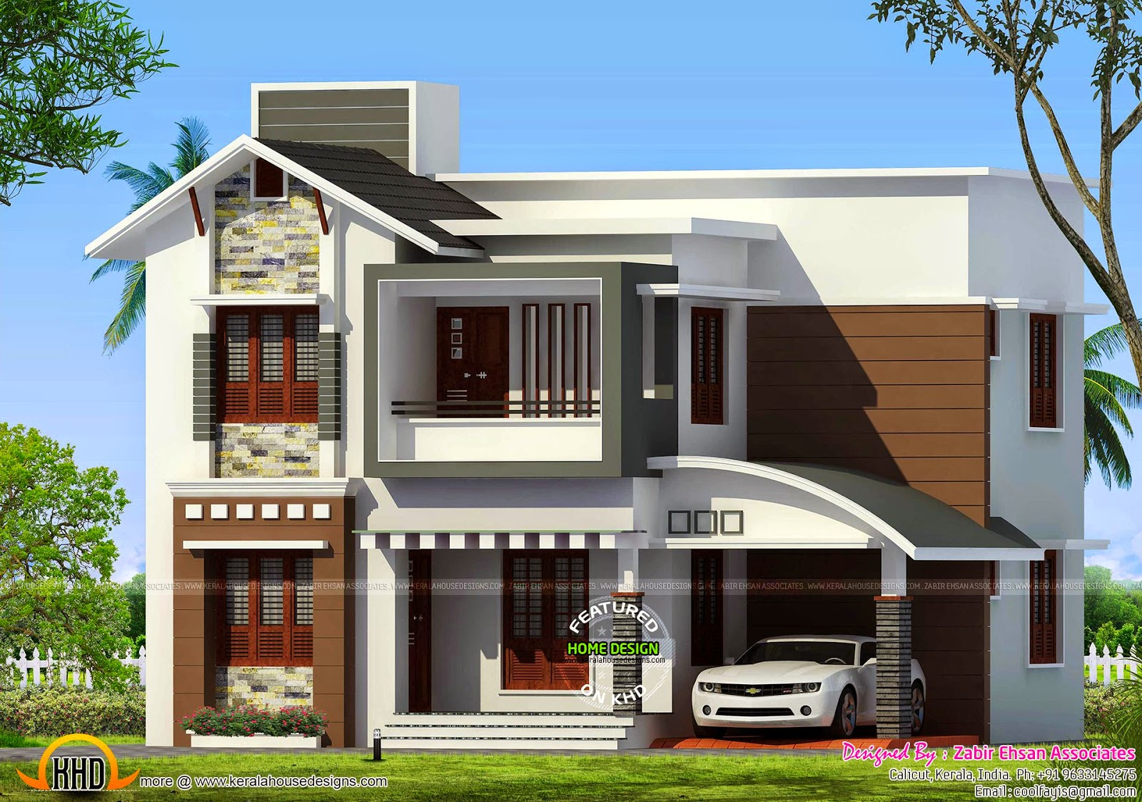 January 2015 kerala home design and floor plans for House design outside view