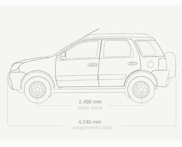 Ford EcoSport FreeStyle 2011 - Dimensões