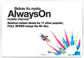 Paket Internet Three 3 Always On 2013