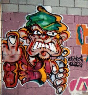 Graffitis Bon Pastor vieja escuela