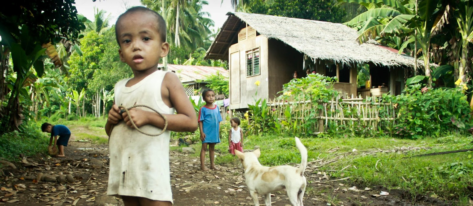 Image of children in a typical rural community in the Philippines