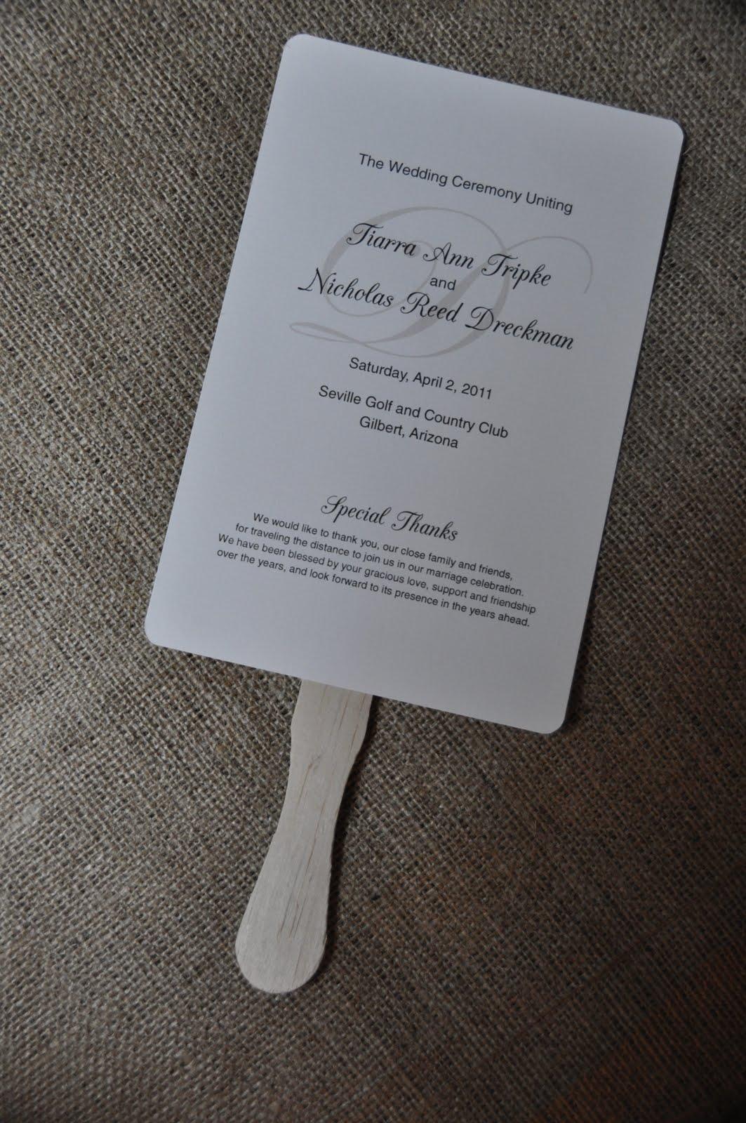 wedding ceremony program fans sendafax090111nのブログ
