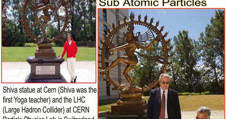 Ancient Indian Ufo Shiva Statue At Cern And Lhc