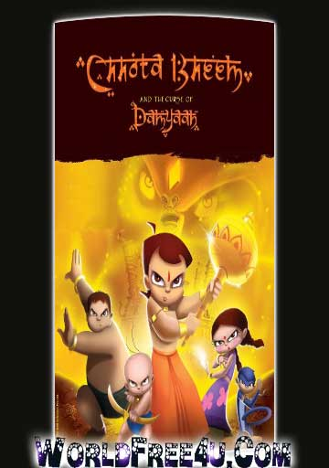 Poster Of Bollywood Movie Chota Bheem And The Curse Of Damyaan (2012) 300MB Compressed Small Size Pc Movie Free Download worldfree4u.com