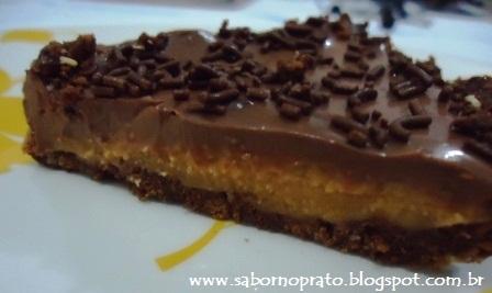 Torta de Doce de Leite Diet para manter a dieta.