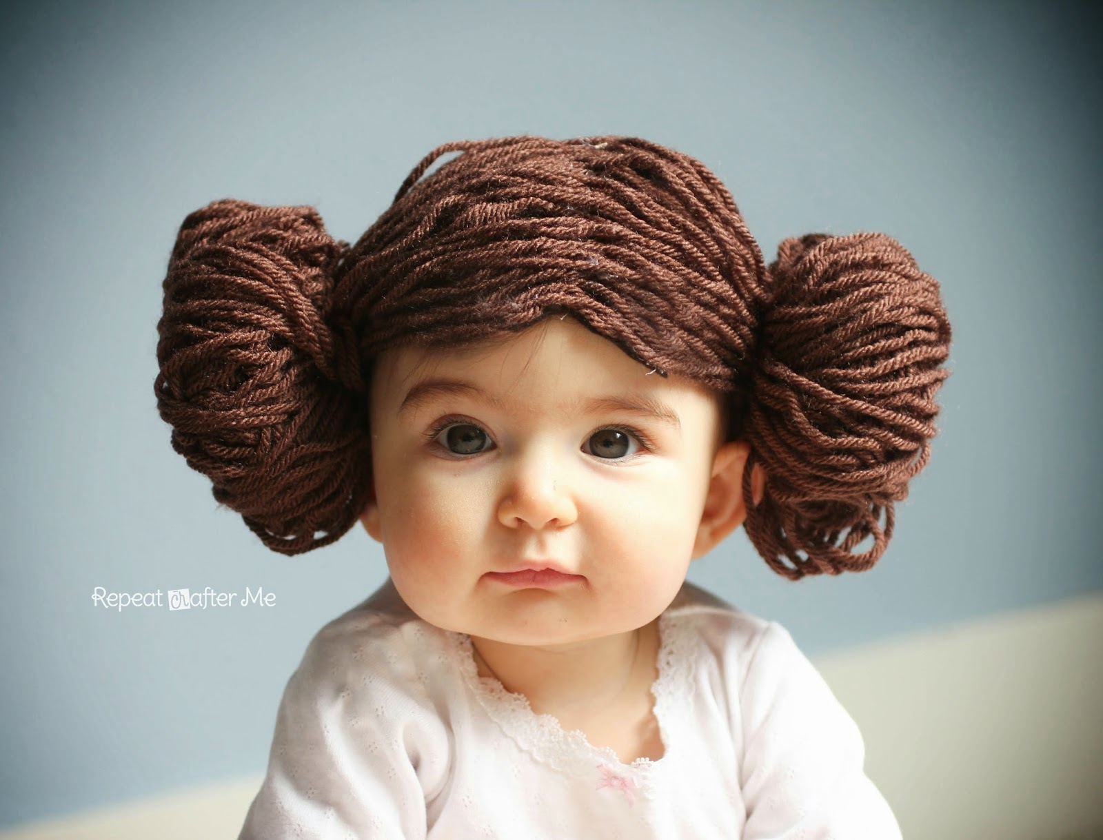 DIY Princess Leia Yarn Wig