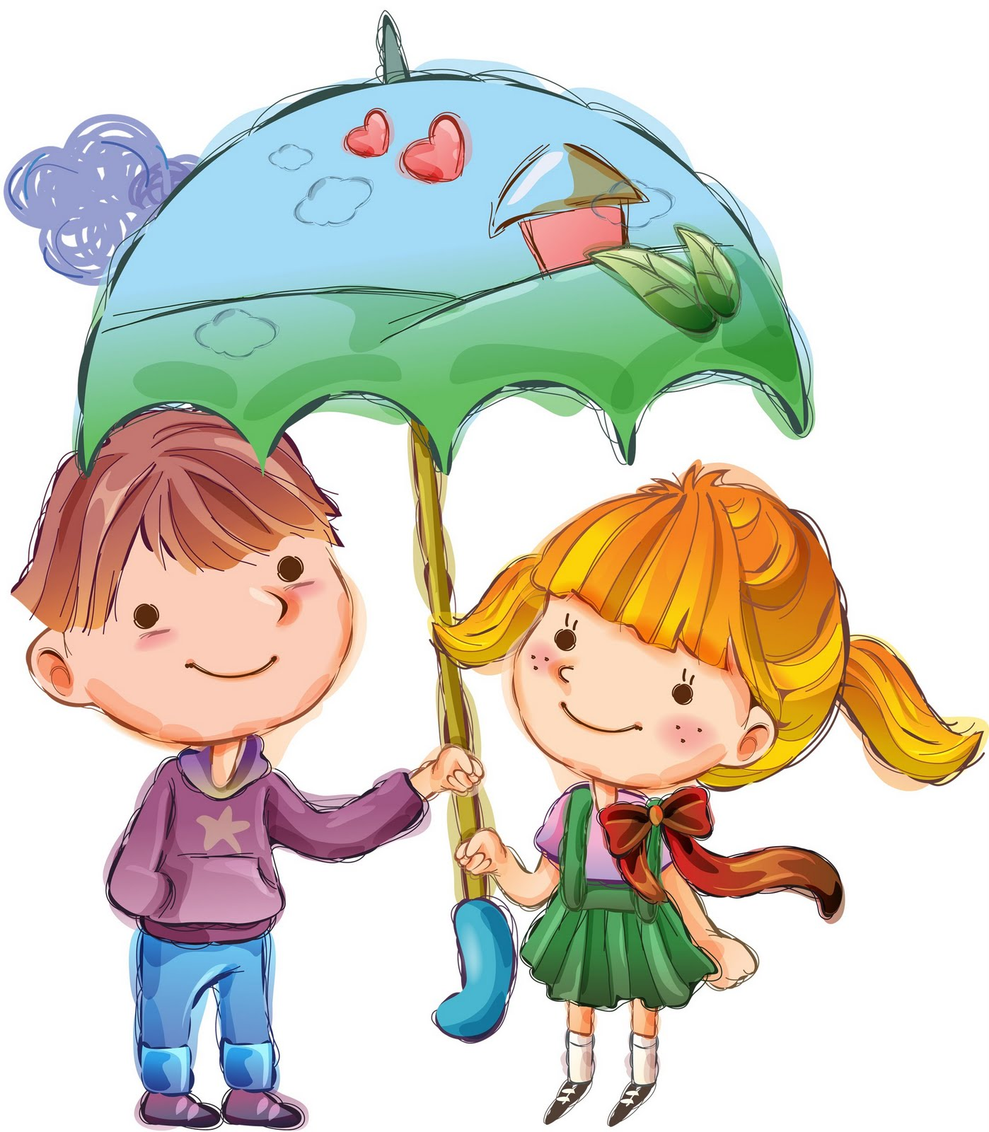 Dibujos a color ♥: ♥ Dibujos de niños San Valentin ♥