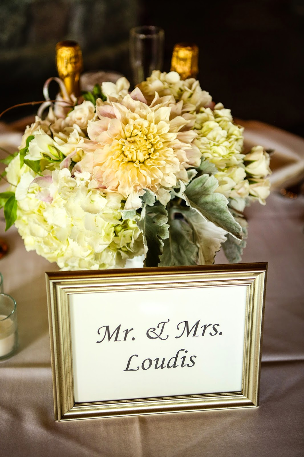 Lake Placid Wedding - The Whiteface Lodge Wedding - Reception Centerpiece - Upstate NY Wedding - Splendid Stems Floral Designs