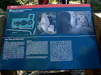 Plafó informatiu a Sant Pere de Vallhonesta