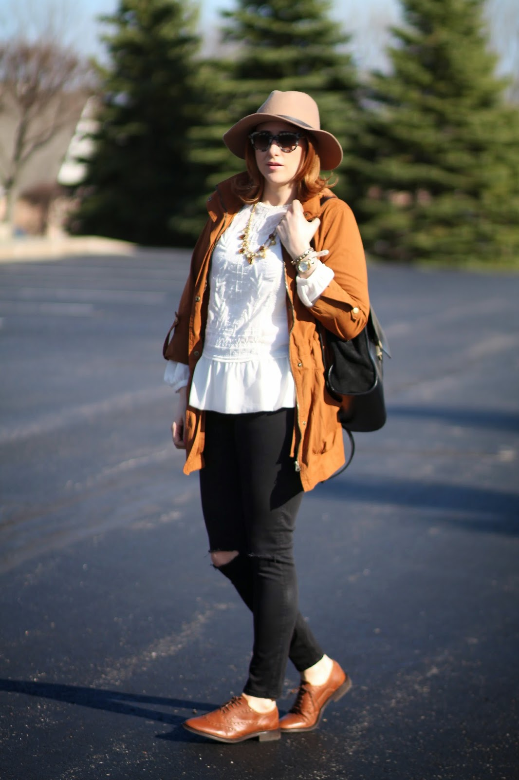 brown, oxford, shoes, womens