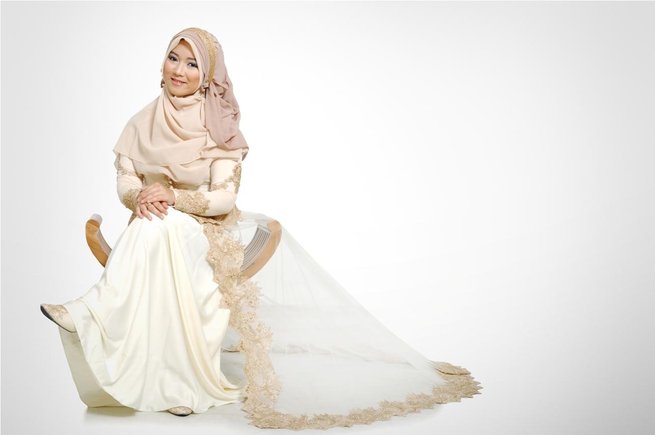 Insprasi Baju Pengantin Muslimah Syari Inspirasi