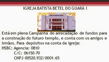 Campanha Construção do Templo