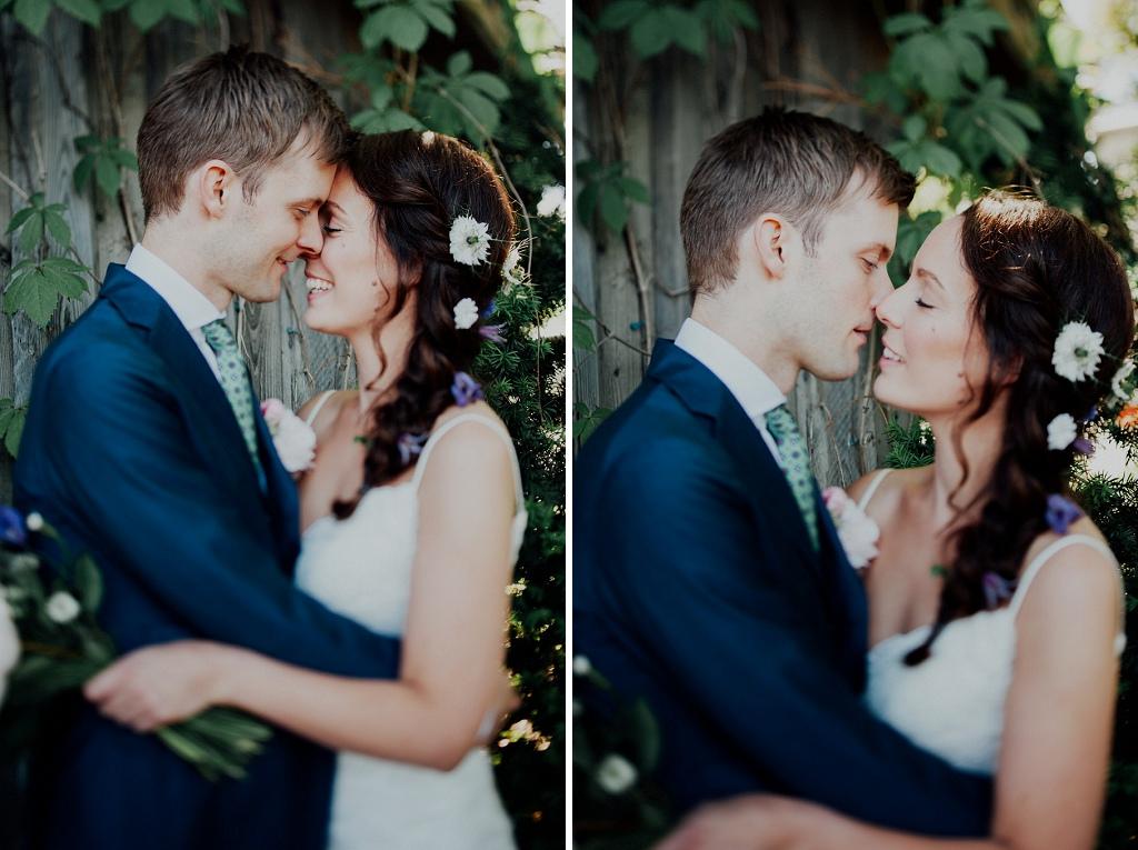 Bröllopsporträtt med bohem känsla