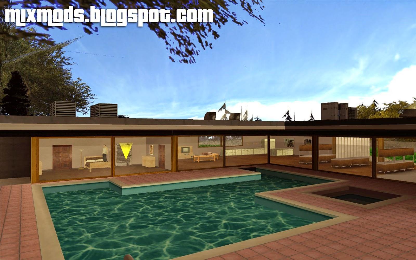 Beta mulholland safehouse casa das colinas mixmods for Casa moderna gta sa