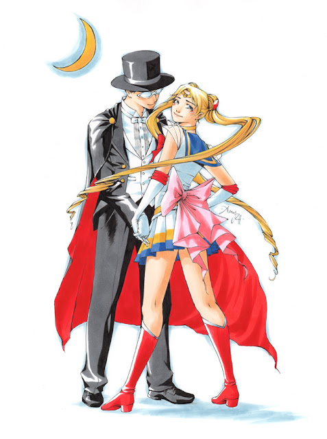 Sailor Moon and Tuxedo Mask por Tentopet