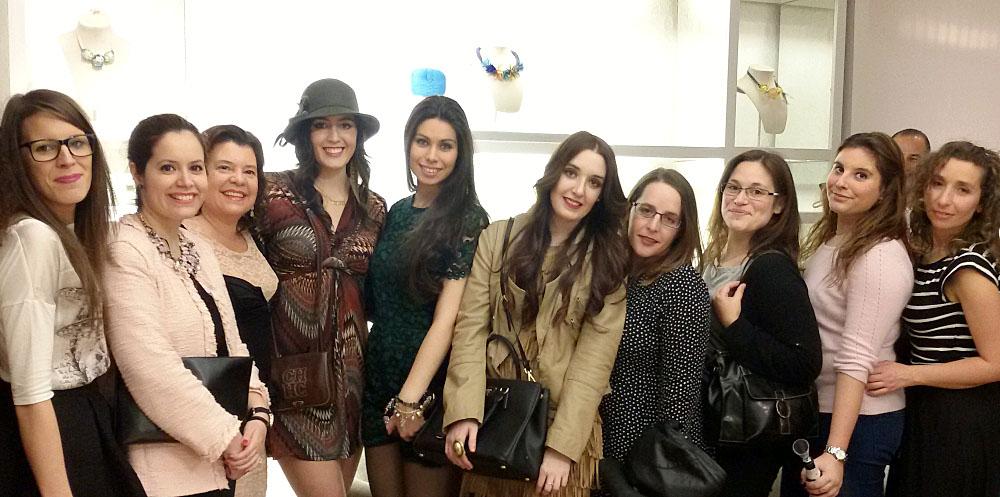 At Hoss Intropia event. Fashion bloggers